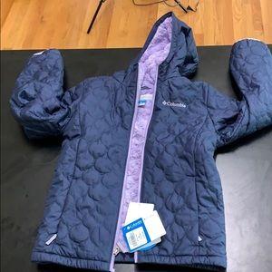 NWT Girls Columbia water resistant Fleece:jacket